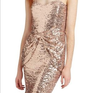 Mark + James pink sequin dress NWT 0